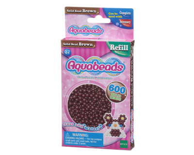 32598 Aquabeads Parels - Solid Bead  Brown