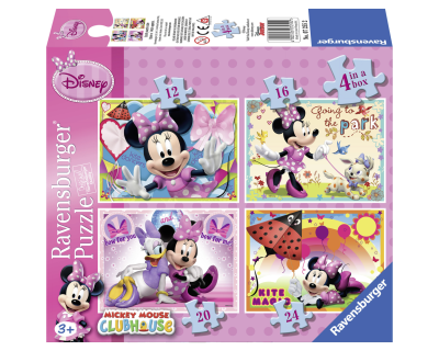 Minnie Mouse puzzel 4 in 1