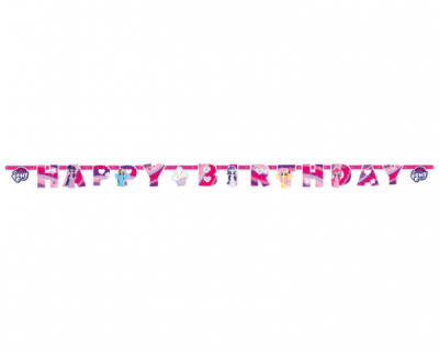 My little Pony feest happybirthday banner
