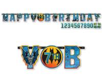 Batman feest Letterbanner add an age